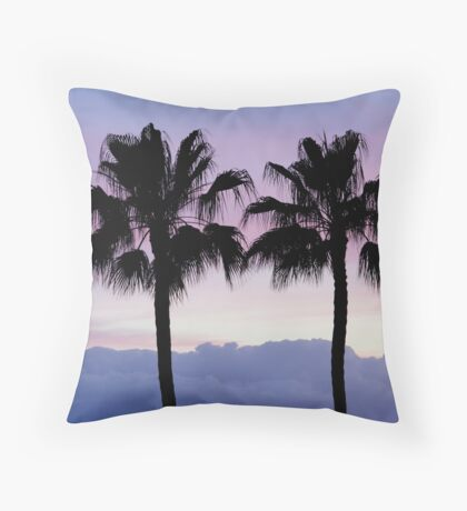 Purple sunset in Los Gigantes Throw Pillow