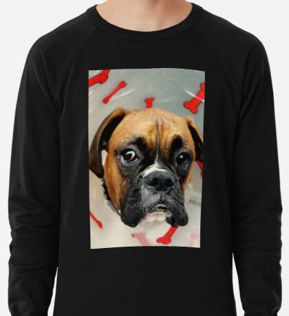 Nicht glücklich - Boxer Dog Series Leichtes Sweatshirt