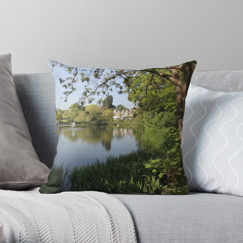 Bletchley Park Lakeview Throw Pillow