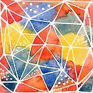 «Acuarela geométrica abstracta» de purplesparrow