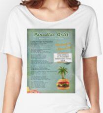 Cheeseburger in Paradise Jimmy Buffet Tribute Menu  Women's Relaxed Fit T-Shirt