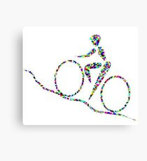 Cycling is a sport of the open road. Canvas Print