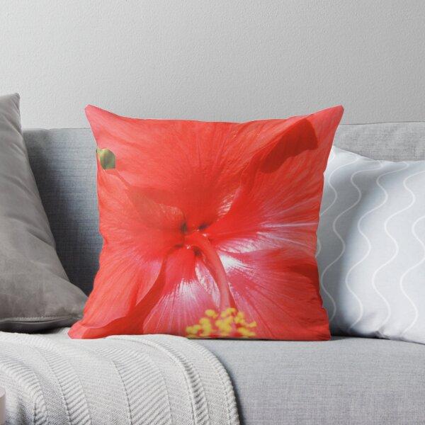 Hibiscus-Flower Of Summer Throw Pillow
