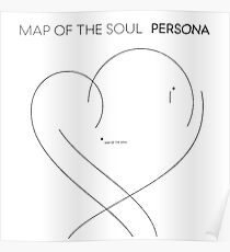 Póster BTS - Map of the Soul Persona - black