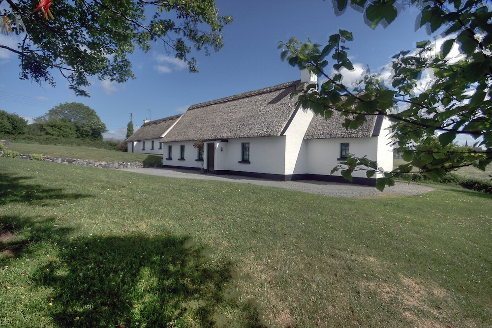 Ballyvaughan thatched cottages by John Quinn