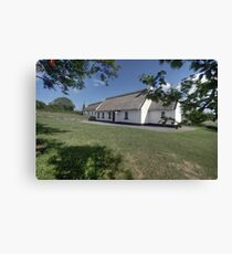 Ballyvaughan thatched cottages Canvas Print