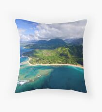 The North Shore of Kauai Throw Pillow