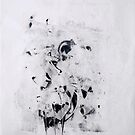 Contraintes et Abandon #9 - Monotype on Wenzhou Paper + pieces of paper sewn by Pascale Baud