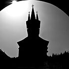 Monastery in silhouette by RonSparks