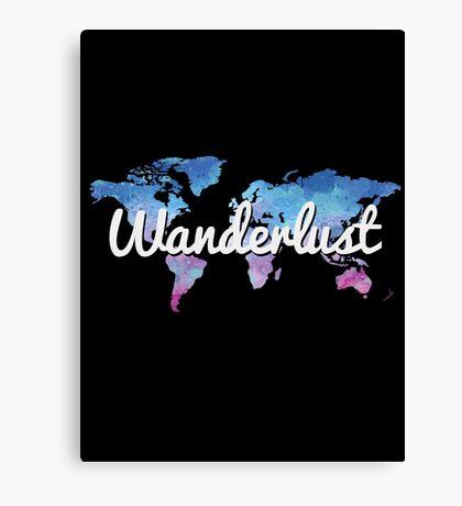 Wanderlust World Map Canvas Print