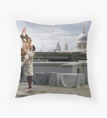 The Street Is A Stage Throw Pillow