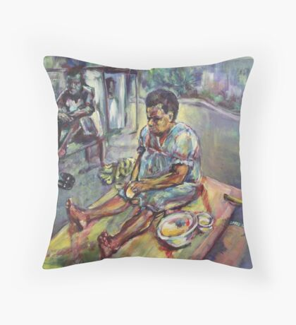Plantain for breakfast Throw Pillow