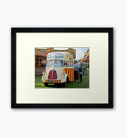 Old Ice-Cream Van: Steam Fair, Dulwich London. Framed Print