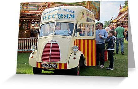 Old Ice-Cream Van: Steam Fair, Dulwich London. by DonDavisUK