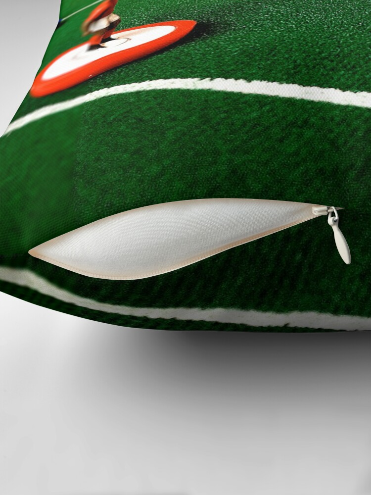 Alternate view of Just flick to kick Throw Pillow