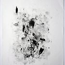 Matrix #2 - Monotype on Wenzhou Paper by Pascale Baud