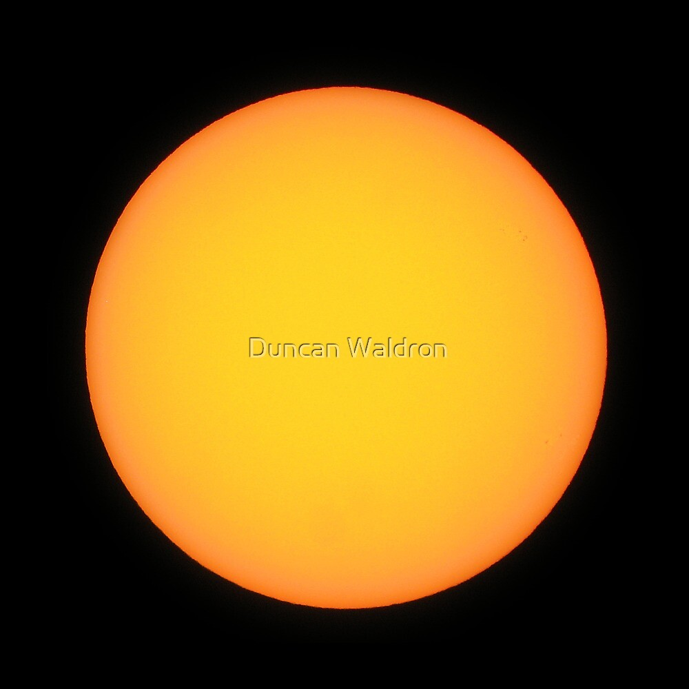 The Sun - almost spotless by Duncan Waldron