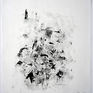 Contraintes et Abandon #10 - Monotype on Wenzhou Paper by Pascale Baud