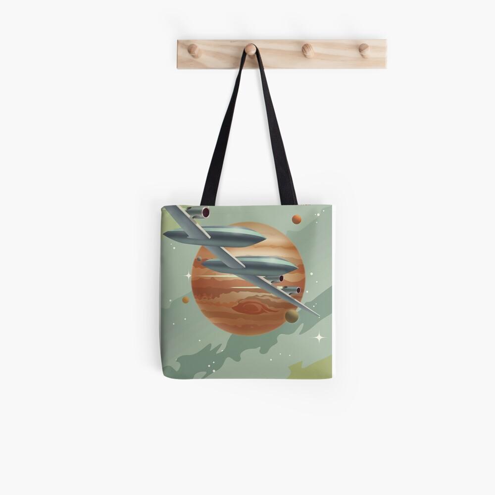 Jupiter Travel Poster Tote Bag