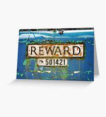 'Reward' Greeting Card