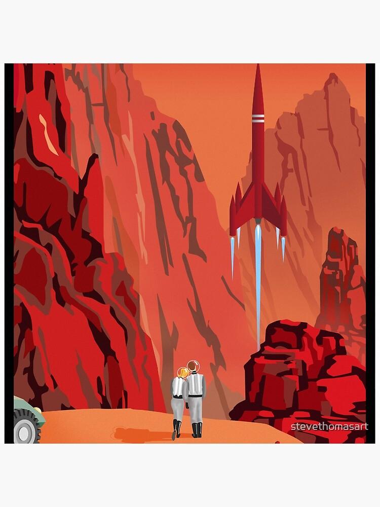 Mars Reise Poster von stevethomasart