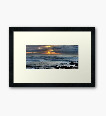 Let There Be Light - Warriewood Beach, Sydney Framed Print