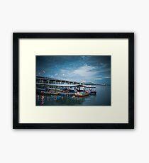 Bridge | Blue Sky | Sea Framed Print