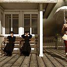 Weinleseart mit drei viktorianische Damen von Britta Glodde