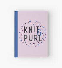 Knit and Purl, Purl and Knit Hardcover Journal