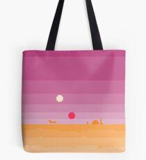 Pixel Tatooine Landscape Tote Bag