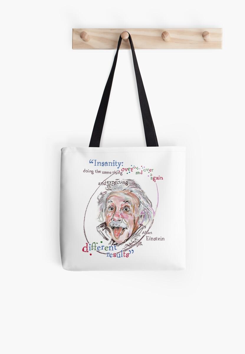 Albert Einstein Picture Quote - Insanity by Douglas Rickard