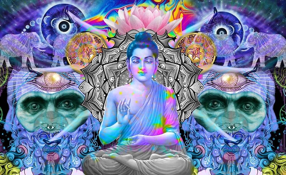Trippy Buddha Wallpaper  dsldequineinfo