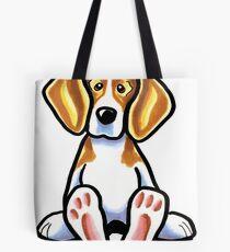 Big Feet Beagle Tote Bag