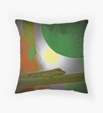 Lizard Moon Throw Pillow