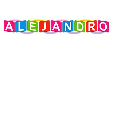 Hello My Name Is Alejandro Name Tag by efomylod