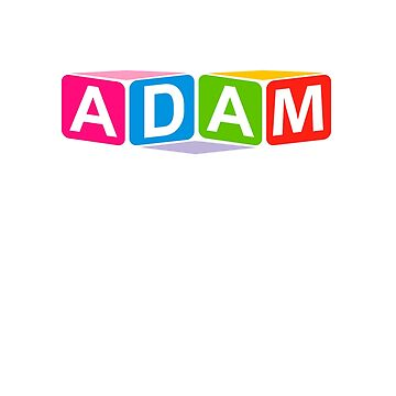 Hello My Name Is Adam Name Tag by efomylod