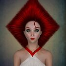 Queen of diamonds portrait von Britta Glodde