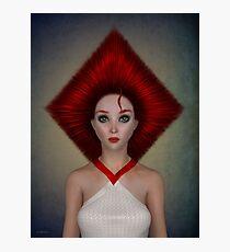 Queen of diamonds portrait Photographic Print