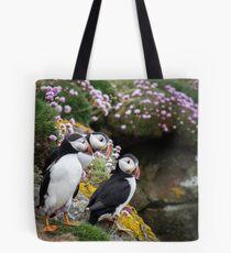 Puffins (IX), Lunga Island, Scotland Tote Bag