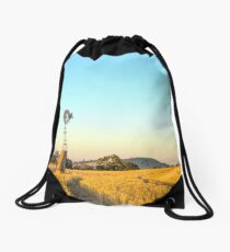 Windmill at Dusk...Dookie Drawstring Bag