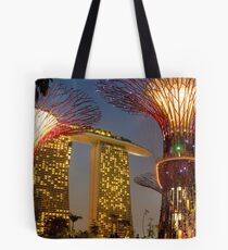 Supertrees and Marina Bay Sands Tote Bag