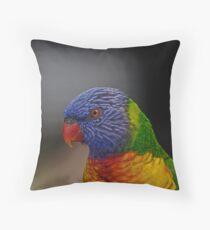 Rainbow Lorikeet portrait Throw Pillow