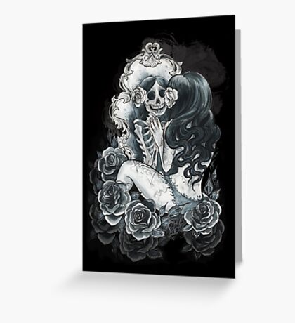 in her reflection Greeting Card