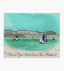 Robinsons Royal Hotel, Blackpool 1855 Photographic Print