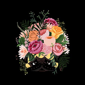 Flor pug de Huebucket