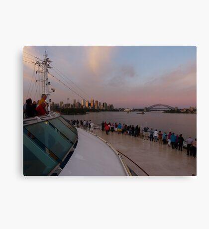 Cruising into Sydney at sunrise Canvas Print