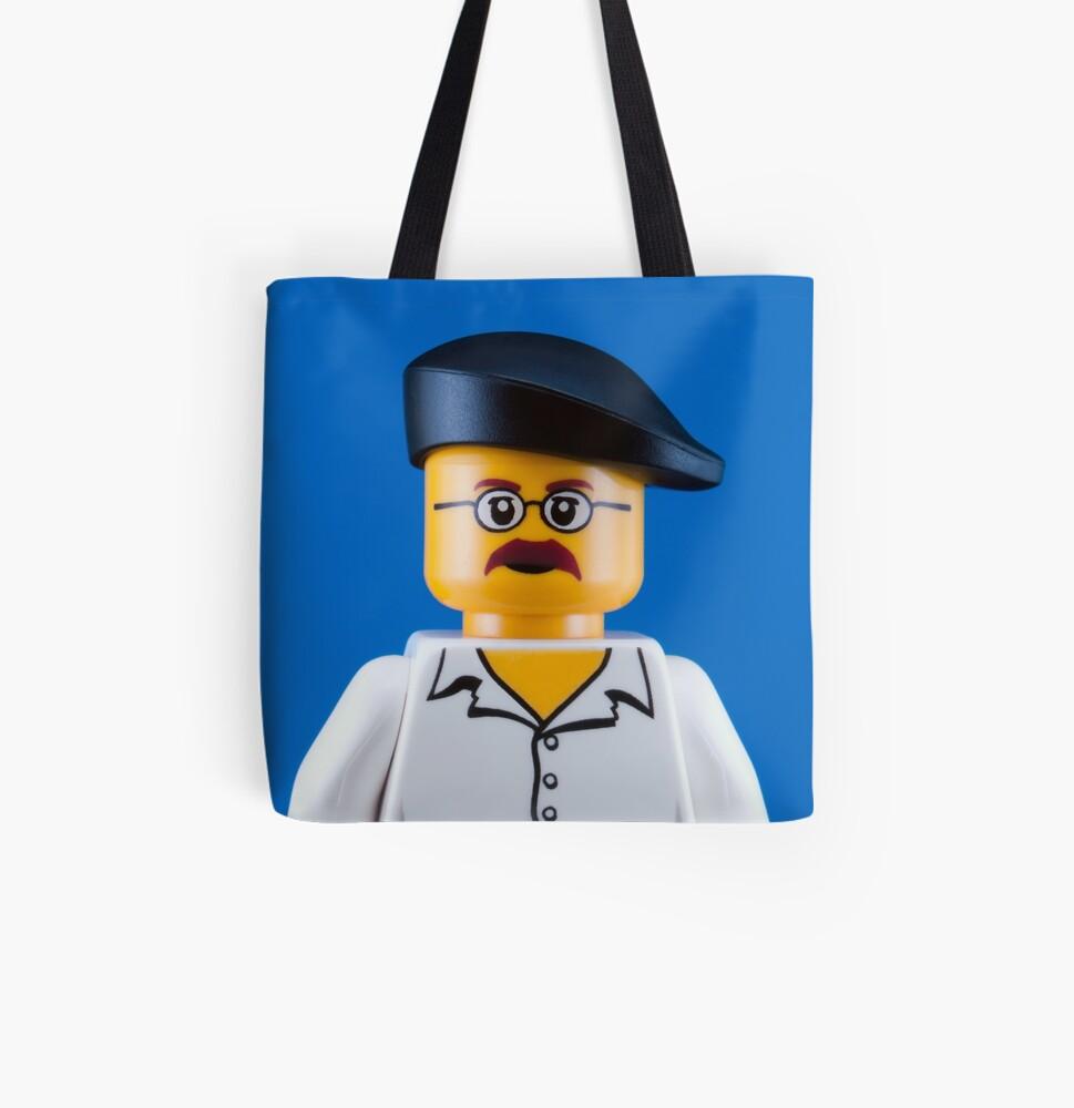 Jamie Hyneman Portrait All Over Print Tote Bag