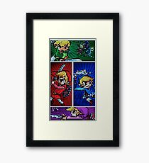 Four Swords Pixel Art Framed Print