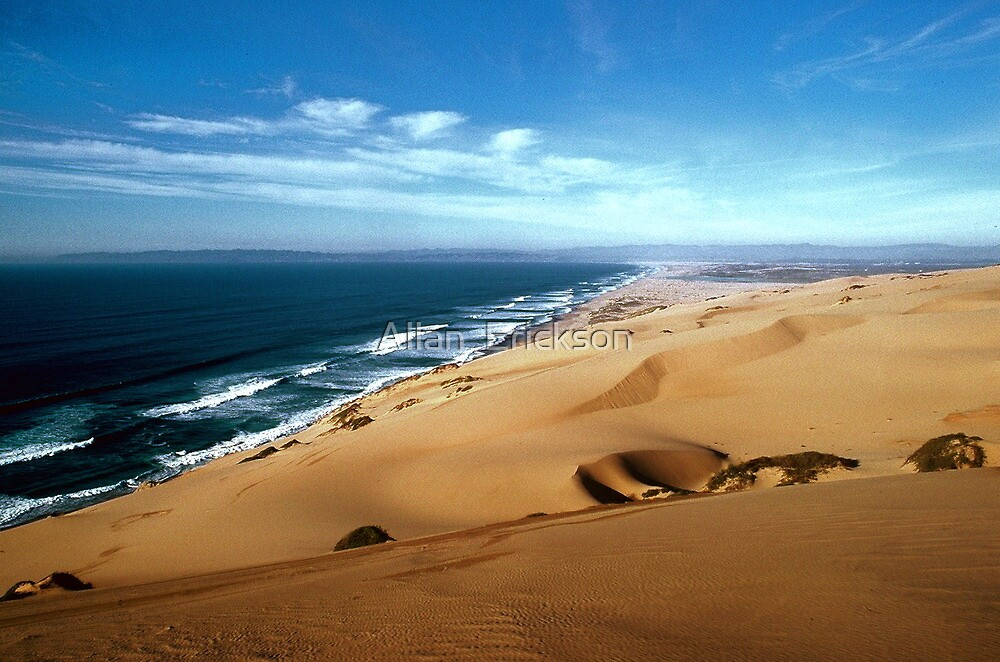 """""""Guadalupe Dunes, looking north, winter..."""" by Allan ..."""