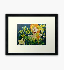 Passing Through the Curtain Framed Print